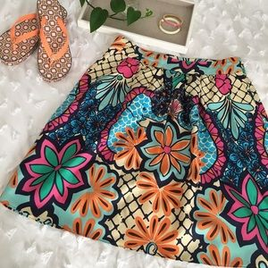 Lilly Pulitzer silk skirt, size 8